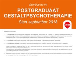 Postgraduaat Gestaltpsychotherapie i.s.m. Vives Hogeschool